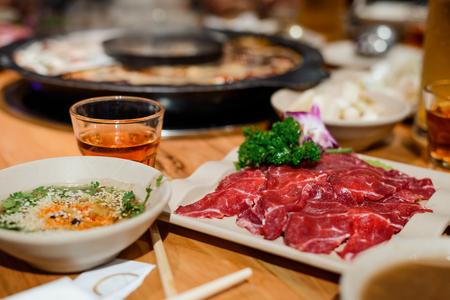 Raw meat slices Standard-Bild