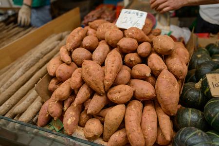 Sweet potato at a market
