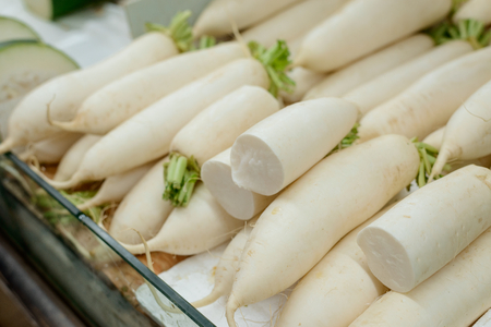 Chinese turnips or Daikon radish