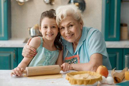 Portrait of granny and grandaughter