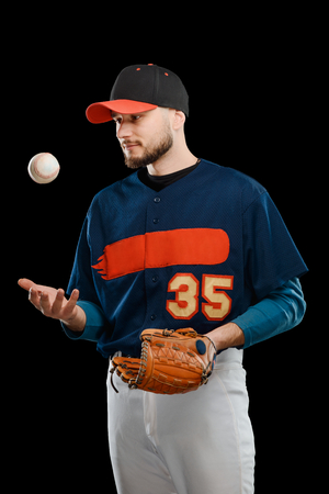 Pitcher playing with a ball