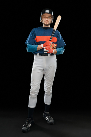 Baseball player holding a bat