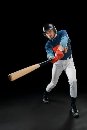 Baseball hitter in action