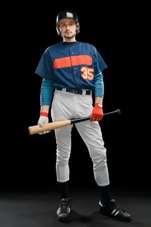Hitter holding a baseball bat