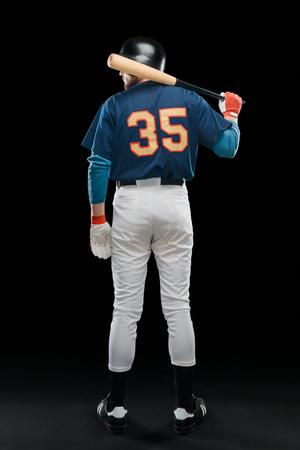 Baseball hitter with a bat 스톡 콘텐츠