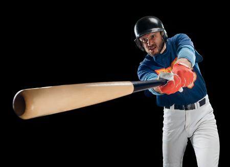 Batter swinging a bat