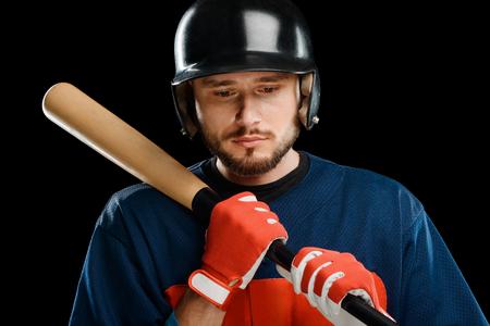 Portrait of a baseball hitter