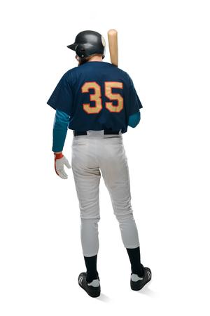 Baseball batter on white background Stock Photo
