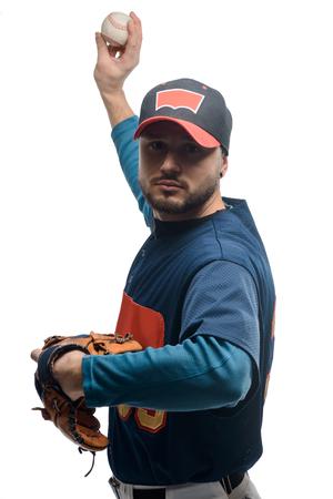 Portrait of a baseball pitcher Stock Photo