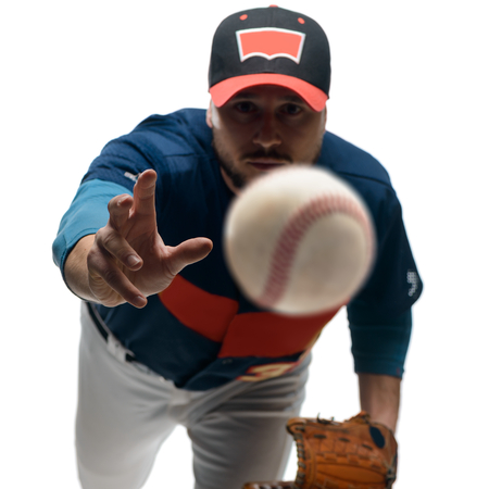 Player throwing a knuckleball