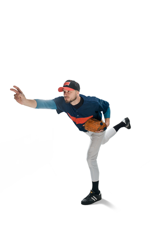 Pitcher throwing a ball
