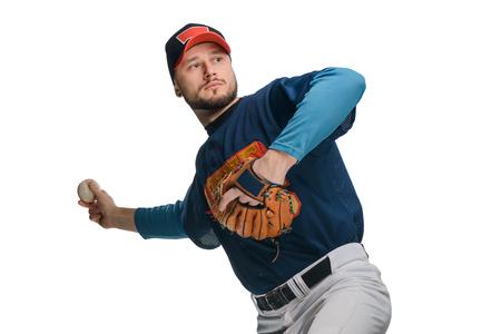 Baseball player in a stride 版權商用圖片