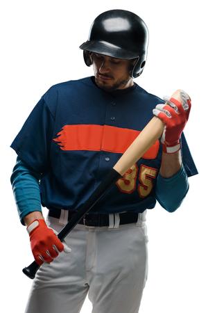 Baseball hitter holding a bat