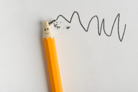 Pencil with broken lead Stock Photo