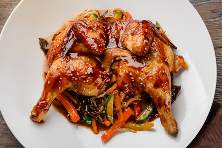 Asian style chicken 스톡 콘텐츠