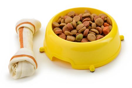 Bone treat and bowl