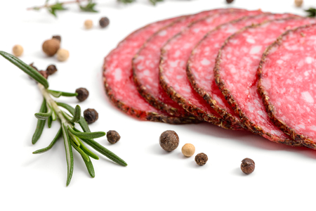 Rosemary, black pepper and salami