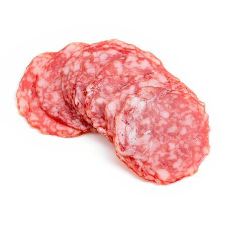 Close up on salami slices Stock fotó