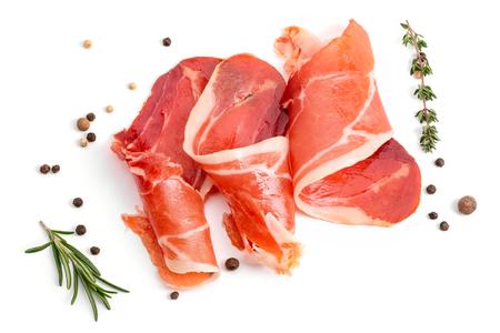 Plastry apetycznego jamon Zdjęcie Seryjne