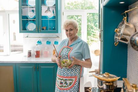 Granny holding a bowl