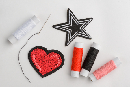 Heart and star patches
