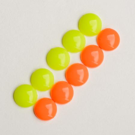 Yellow and orange plastic decorations