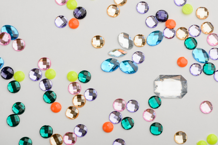 Scattered different rhinestones