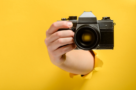 Hand taking a picture