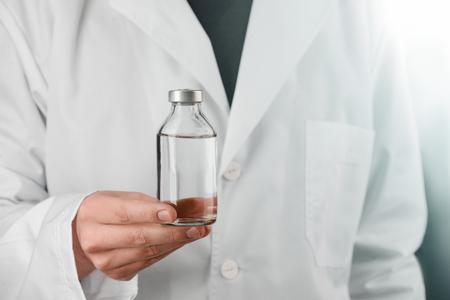 Bottle of saline solution