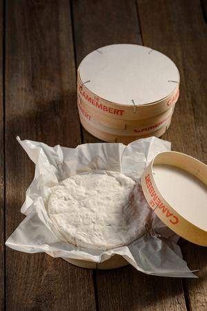 Camembert cheese in package