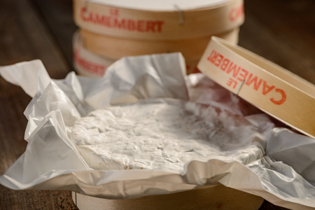 Close up on Camembert cheese