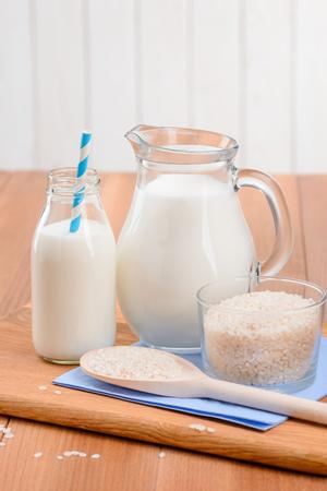 Homemade rice milk Stock Photo