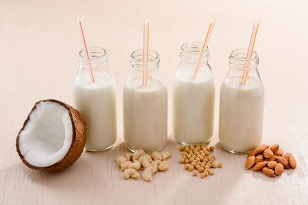 Coconut, cashew, soy, almond milks