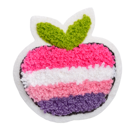 Colorful apple fabric patch