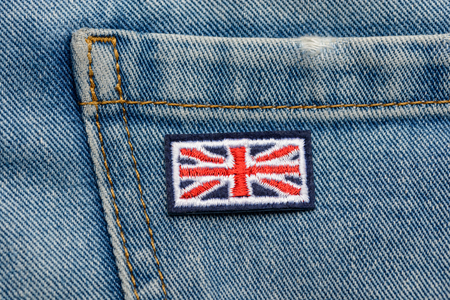 Great Britain flag embroidered patch