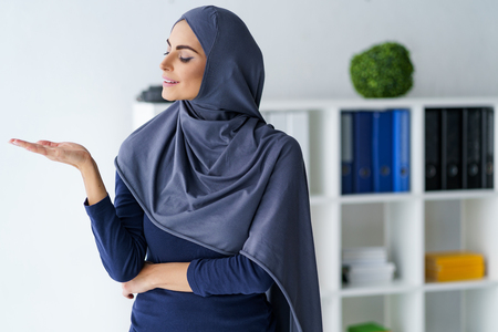 Gorgeous Muslim woman Stock Photo