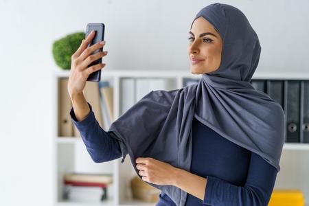 Arabian woman taking a selfie