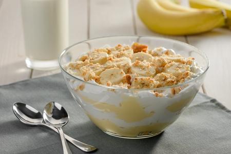 Delicious banana cream pudding
