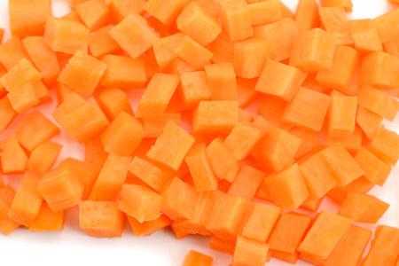 Close up on diced carrot Foto de archivo - 120740834