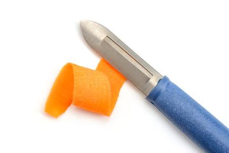 Carrot shaving and peeler knife Foto de archivo - 120815543