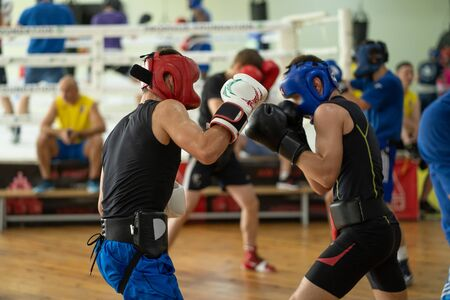 Fighters at the boxing club Imagens