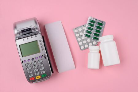 Card machine, receipt and drugs