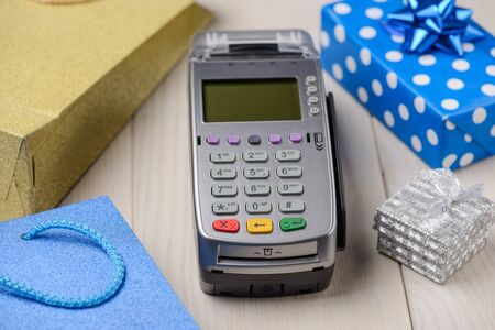 Payment terminal and gift boxes