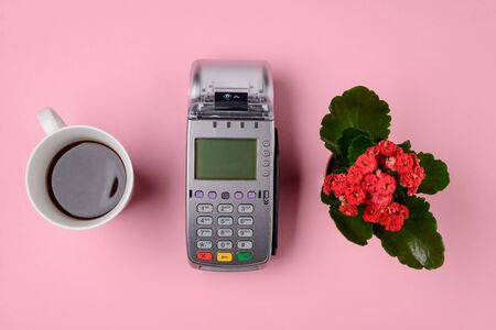 Coffee, flower and POS terminal