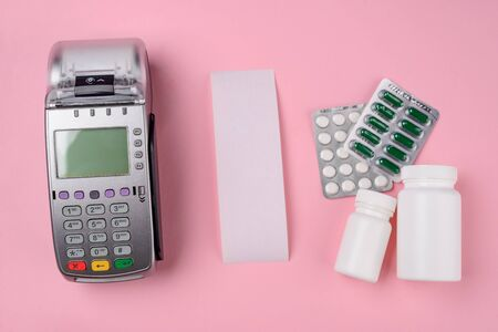 Payment terminal, receipt and drugs
