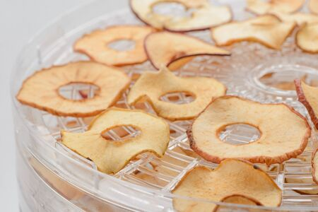 Dried apple rings Imagens
