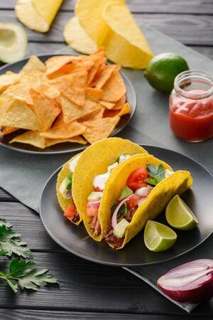 Hard-shell tacos and nachos