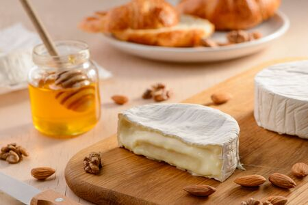 Runny texture of Camembert cheese