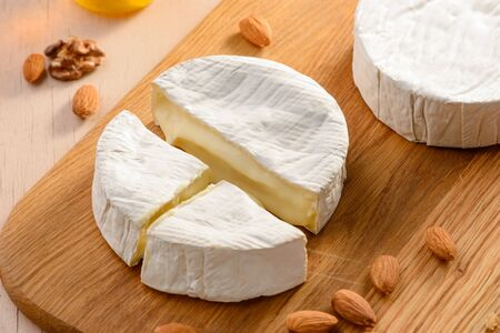 Close up on a camembert