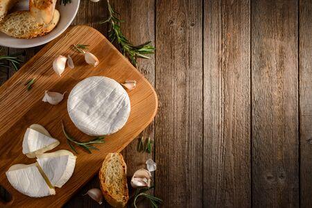 Breakfast ingredients on wooden table 版權商用圖片